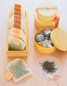 Des sachets de thé