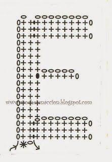 Alfabeto em crochê com gráfico - letras em crochê com gráfico - Alfabetos Lindos