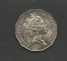moeda poligonal da australia