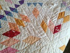 Antique Vintage Handmade Multi Point Star Cutter Quilt 78 x 80   eBay
