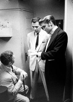 backstage at the Steve Allen Show, 1956.