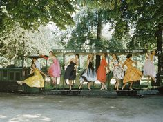 """Dior autumn/winter 1957 haute couture line, photography by Mark Shaw"""""""