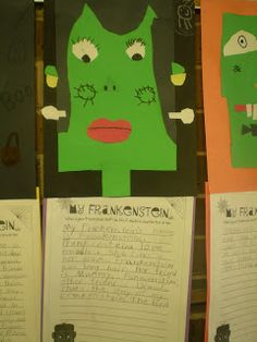 Third Grade Love: ~~Frankenstein Writing & Freebies~~