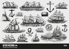 Free Vintage ship Vectors