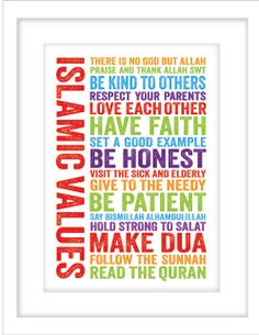A great reminder for little Muslims of important Islamic values. Perfect for a kids room or playroom! Shop this and other Islamic wall art ideas for kids. Islamic Wall Decor, Arabic Decor, Hadith Quotes, Chore Chart Kids, Islamic Art Calligraphy, Caligraphy, Islamic Gifts, Prayer Room, Art Wall Kids
