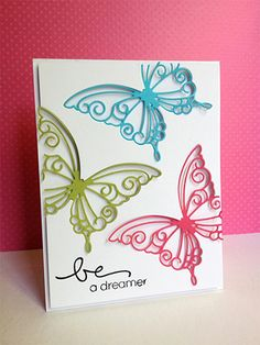 Be a Dreamer........Butterfly greeting card