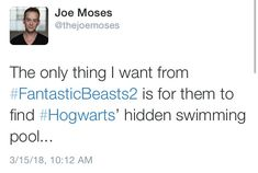 DID YOU KNOW THAT HERE AT HOGWARTS... WE'VE GOT A HIDDEN SWIMMING POOOOOOL!!!