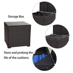Outdoor PE Rattan Furniture Set -6 Piece Patio Wicker Sectional Conversation LoveSeat Couch Sofa Set with Storage Table Box * Details can be found by clicking on the image.-It is an affiliate link to Amazon.