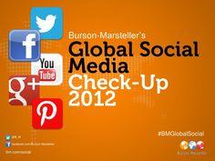 Burson-Marsteller Global Social Media Check-Up 2012 by Burson-Marsteller, via Slideshare