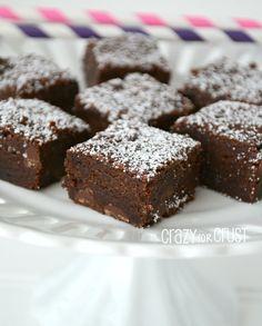 Vegan Brownies by www.crazyforcrust.com   A rich, dense brownie that's egg and dairy free! #brownie #vegan