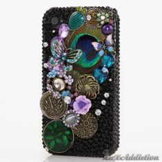 "Style 436 This Bling case can be handcrafted for iPhone 4/4S, 5, 5S, and 5C. The current price is $79.95 (Enter discount code: ""facebook102"" for an additional 10% off during checkout) *Click image for direct link"