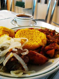 Cuban food is an blend of Caribbean, African and Spanish flavors with meat and meatless dishes. (Miami, Florida)