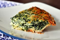 Spinach and Gruyere Quiche recipe via Worthwhile reads from the web this week – Eat and Sip in the City