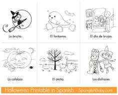 Free Halloween Printable Story Cards in Spanish
