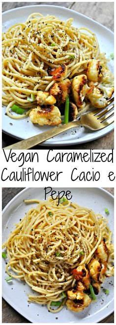 Vegan Caramelized Cauliflower Cacio e Pepe - Rabbit and Wolves