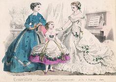 February fashions, 1866 France, Cendrillon