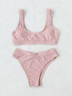 Shop Scoop Neck High Leg Bikini Set online. SheIn offers Scoop Neck High Leg Bikini Set & more to fit your fashionable needs.