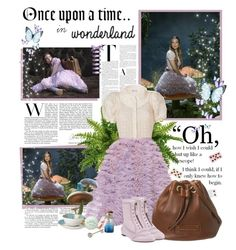 """Alice ~ Once Upon a Time in Wonderland"" by kamilla-barbara ❤ liked on Polyvore featuring Once Upon a Time, RED Valentino, LUISA BECCARIA, Bernardaud, Marc by Marc Jacobs and Nina Ricci"