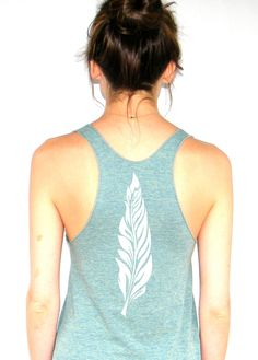 Feather - American Apparel Racerback Tank Top
