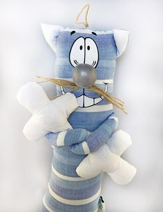 29'' tall Handmade funny soft toy cat  cotton by HommyStore