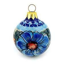 Image result for polish pottery christmas balls