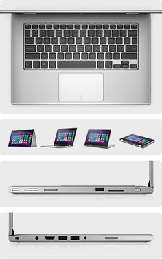 Inspiron 13 Powerful laptop. Tablet versatility. 500 gb. 8gb / 5th gen i7 $850. 8gb / i5 $750. 4gb i5 / $650.