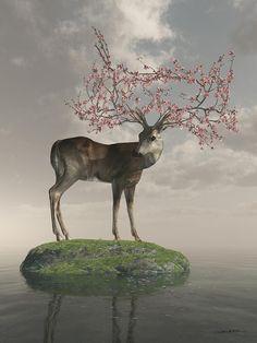 Guardian Of Spring Fine Art Print by Cynthia Decker