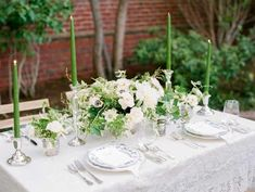 White and Green Wedding Table | photography by http://www.michelehartphotography.com