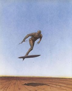 Silver Surfer (Norrin Radd) is a fictional character, a superhero in the Marvel Comic universe.