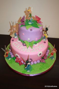 fairy cakes | disney fairies cake a disney fairies cake i made for my god daughter ...