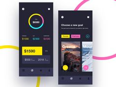 Money saving app for goals designed by Ihor Hrynda. Daily Ui, Show And Tell, Saving Money, Goals, App, Save My Money, Apps, Money Savers, Frugal