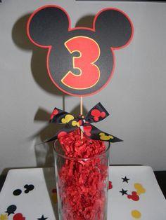 Mickey Mouse Centerpiece – Set of 3 Picks – My WordPress Website Mickey Mouse Age, Mickey Mouse Theme Party, Mickey Mouse Clubhouse Birthday Party, Mickey Mouse And Friends, Mickey Mouse Birthday, 1st Boy Birthday, Birthday Ideas, Birthday Parties, Mickey Decorations