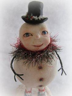 paper clay snowman