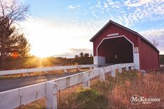 The Covered Bridge in Swanzey NH taken during the fall of 2014 by McKennon Images