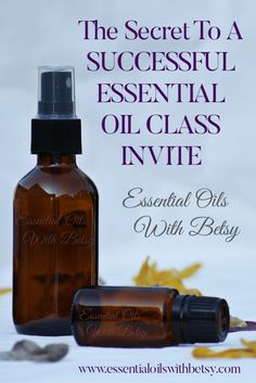THE SECRET TO A SUCCESSFUL ESSENTIAL OIL CLASS INVITE Whether online or in person, there are some key steps to follow when inviting to an essential oil class. Inviting your guests in an appropriately inviting manner will help you to hostess a successful party. Don't overlook the power of the steps outlined in this article. It is a simple formula that has worked for me over and over to experience a successful essential oil class invite.
