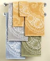paisley towels from macy's