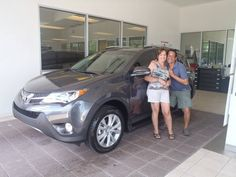 Evelyn with her brand new 2013 Rav4! Welcome to the #DavidMaus #Toyota family!