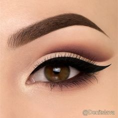 """Natural cut crease, I hope you guys like this look..."" (Pic: @denitslava) ♡♥♡♥♡♥"