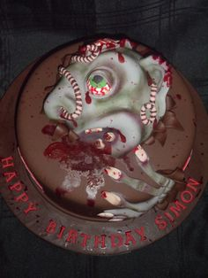 Zombie/Resident Evil cake, all made with fondant :)