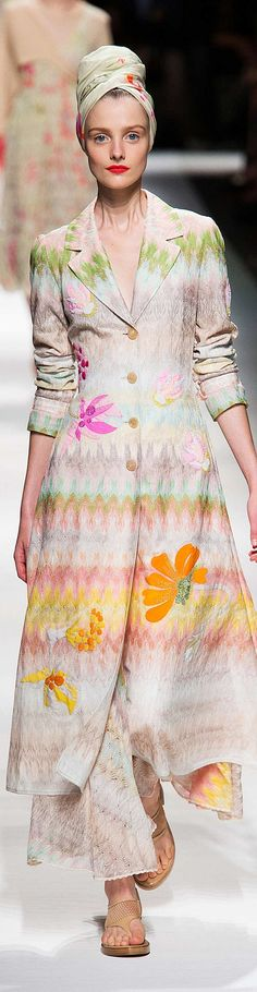 Missoni Spring 2015 RTW Fashion Show ~ETS #pastels