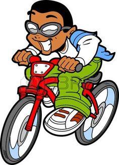 Illustration of Happy Ethnic Boy or Young Man Riding Bike vector art, clipart and stock vectors. Superhero Cartoon, Female Superhero, Baseball Vector, Baseball Girls, Happy Cartoon, Kids Vector, Cartoon People, Bike Rider, Manga Boy