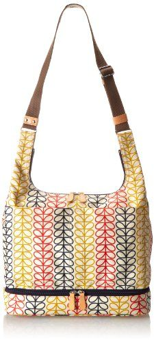 Orla Kiely 14SELIN049 Linear Stem Baby & Changing Mat Cross Body Bag Primary Multi �