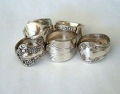 LOVE these rings made out of spoon handles.
