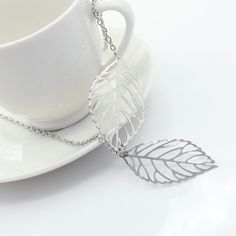 Leaf NecklaceChain Necklace Gold necklace Gift by FashionCounter6