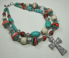 howlite, red maple turquoise, sponge coral