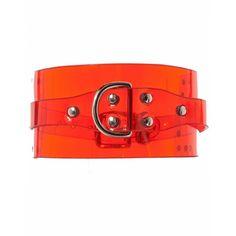 FLEET ILYA - PVC buckled Choker - AW16-CLR-CLC RED PVC - H. Lorenzo ($99) ❤ liked on Polyvore featuring jewelry, necklaces, red choker, red choker necklace, buckle jewelry, red necklace and choker jewelry