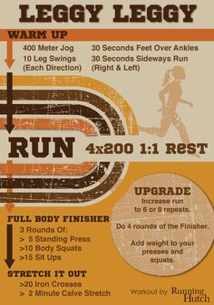 Leggy Leggy Running Workout #FitFluential Track Workout, Running Workouts, Floor Workouts, Easy Workouts, Marathon, Jogger, Weight Loss Secrets, Training Plan, I Work Out