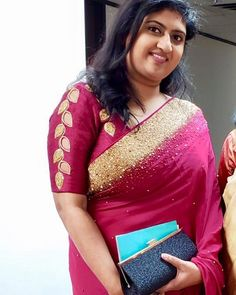 Looking for designer blouse images? Here are latest trendy blouse models that you can wear with any saree of your choice. Pattu Saree Blouse Designs, Designer Blouse Patterns, Fancy Blouse Designs, Hand Work Blouse Design, Sleeves Designs For Dresses, Blouse Models, Silk Material, Stones, Online Friendship