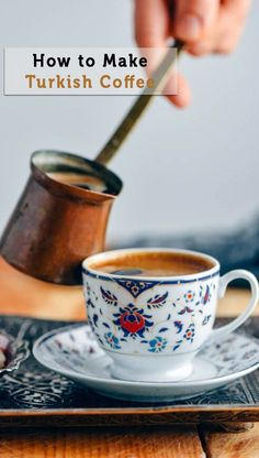 Would you like to learn How to Make Turkish Coffee? Its such a unique drink from its cooking method to the serving and drinking. You will love that smell spreading in your house when making this coffee. Coffee Tasting, Coffee Drinks, Turkish Coffee Cups, Coffee Facts, Healty Dinner, Best Coffee, Coffee Coffee, Coffee Cake, Coffee Shop