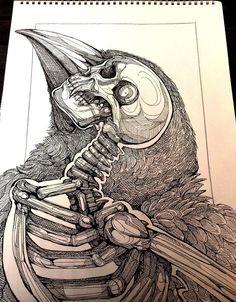 Design tattoo crow iside #bestdesign #tattoo The Best Pins